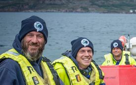 Salmon farming is still largely a male occupation at marine sites, although SSC's men get less on average than its female employees. Photo: SSC