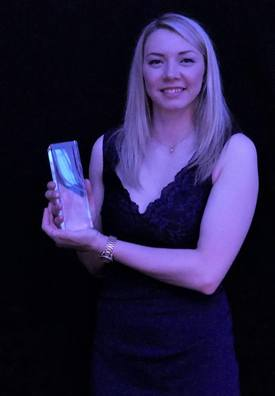 Sarah Last was named Finfish Farm Manager of the Year. Phto: FFE