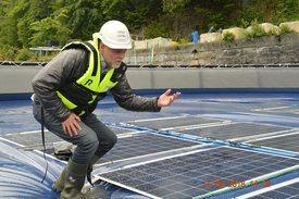 Børge Bjørneklett i Ocean Sun mener at solenergi vil bli en viktig energikilde også langs norskekysten. Foto: Gustav Erik Blaalid