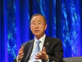 Ban Ki Moon maner til økt omsorg for havene.