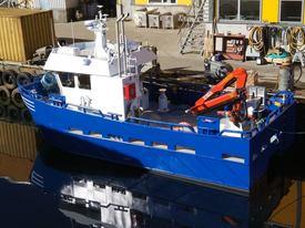 To nye fartøy ble tirsdag 10 juli levert til Gildeskål Forskningsstasjon (GIFAS)av Sletta Verft. Foto: Sletta Verft.