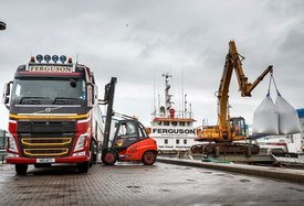 Ferguson Transport and Shipping has won the Crown Estate award for the second time in three years.