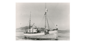 MK «Heland» på sjøen i Valderøyfjorden.