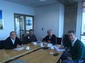 Representantes del PEM Salmon, Corfo Los Lagos, SalmonChile e Intesal. Imagen, PEM Salmon.