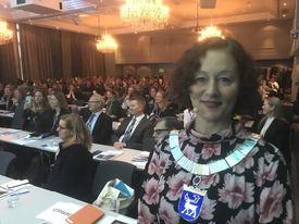 Ordfører Kristin Røymo i Tromsø åpnet konferansen. Foto: Sigbjørn Larsen