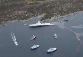KNM «Helge Ingstad» fikk stor slagside etter sammenstøtet med tankskipet
