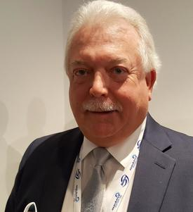Rondal Stotish er CEO i AquaBounty Technologies. Foto: Gustav-Erik Blaalid.