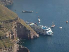 Fra forsøket på å redde MS «Sea Diamond» Foto: Wikipedia