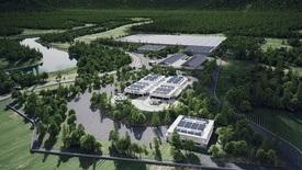 Work on Pure Salmon's facility in Japan will start next year. Click to enlarge image.