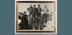 Mannskapet på «Gjøa» ved ankomst Nome, Alaska Foto: Digitalmuseum