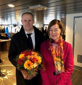 Matts Johansen og gudmor Alexandra Shackleton