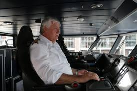 Kaptein på MS Ekspressen, Arild Agasøster. Foto: Vibeke Blich