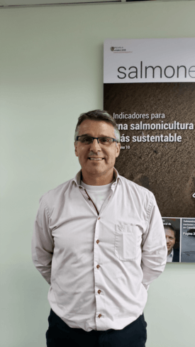 Neil Manchester, director ejecutivo de Aquaculture Business de Hendrix Genetics. Erich Guerrero, Salmonexpert.