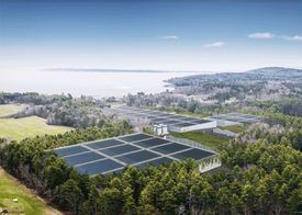 The salmon farm will discharge water into Penobscot Bay. Image: Nordic Aquafarms.