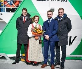 Dåp av den nye båten som overleveres til FSV. Foto: Kjell Stian Brunes./FSV