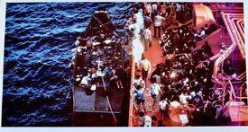 196 båtflyktninger ble reddet av «Brimanger» i september 1980