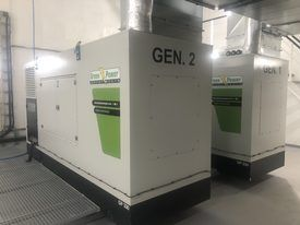 Generators have been installed in cabinets to minimise noise pollution.