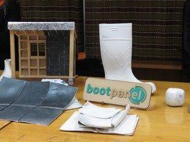 Círculo de reciclaje de Boot Panel: desde la bota de PVC hasta el aislante para viviendas.