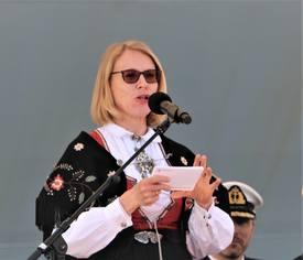 Anniken Huitfeldt (AP) som leder Utenriks- og forsvarskomiteen på stortinget mener korvettene må bestå. Foto: Helge Martin Markussen