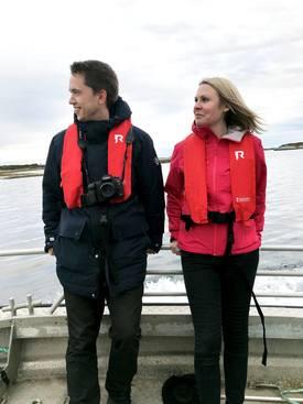 Fredrik A. Sivertsen og Kristin Schjetne er to av teammedlemmene i Celero som til daglig jobber tett med mange av leverandørene i havbruksnæringa for å skape salg og synlighet. Foto: Celero
