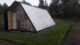 Invernadero donde se cultivan hortalizas con acuaponía. Foto: Salmones Camanchaca.