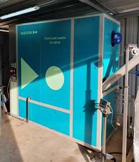 Máquina secadora de lodos de piscicultura creada por Waister y comercializada en Chile por Circular Solutions. Foto: Circular Solutions.