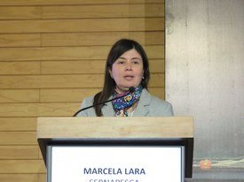 Subdirectora de Acuicultura de Sernapesca, Marcela Lara. Foto: Archivo Salmonexpert.