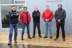 Plana gerencial Grupo Ersil: Rodrigo Niklitschek, Fredi Espinoza, Carlos Montecinos, Renato Aichele y Gonzalo Rojas. Foto: Grupo Ersil.