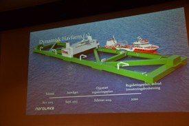 Ilustración de Havfarm 2 tal como se presentó durante el Día Noruego de Acuicultura Offshore 2019. Foto: Harrieth Lundberg.