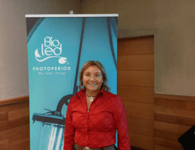 Ximena Navarro, gerente de I+D de Bioled. Foto: Salmonexpert.
