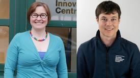 Heather Jones and Sam Houston, of the Scottish Aquaculture Innovation Centre.