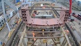 Det blir installert 35 siloer, i tillegg til lasterom på fartøyet. Foto: Damen Shiprepair
