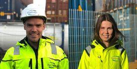 Gerente general de Kystmiljø AS, Christian Johansen y gerente de Proyecto y Calidad, Tina Olaussen. Foto: Kystmiljø.