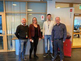 Designteamet bak fartøyet: Fra venstre: Johannes Riise, Marit N. Pettersen, Stig Ole Borgundvåg, Leidulf Borgundvåg