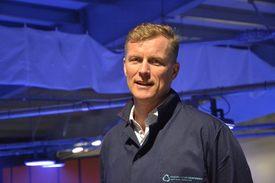CEO de Nordic Aquafarms, Bernt-Olav Røttingsnesen. Foto: Harrieth Lundberg.