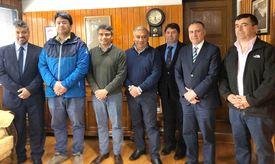 Integrantes de la Asociación Regional de Municipalidades. Foto: Municipalidad Río Ibáñez.