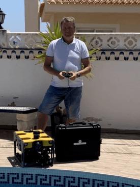 Sveinung Lokøy er nyansatt salgssjef i Nido Robotics og er bosatt i Spania, og sier de nå skal begynne å ha utlån av ROV-systemer. Foto: Privat.