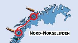 Nord-Norge-linjen er et spennende prosjekt, som kobler sammen flere aktører ei linje mellom Bodø og Tromsø. Illustrasjon: Transportutvikling AS