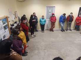 Trabajadores de planta Surproceso en reuniones. Foto: Cedida.