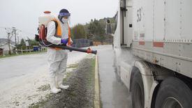 Sanitización del transporte. Foto: Trans Antartic.