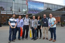 Grupo de emprendedores asociados a IncubatecUFRO en AquaNor 2017. Foto: IncubatecUFRO.