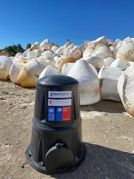 Composteras de Greenspot, elaboradas a partir de residuos de centros de cultivos de salmones. Foto: Greenspot.