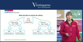 Subsecretaria Alicia Gallardo también fue parte del lanzamiento del Informe de Sustentabilidad de Ventisqueros.