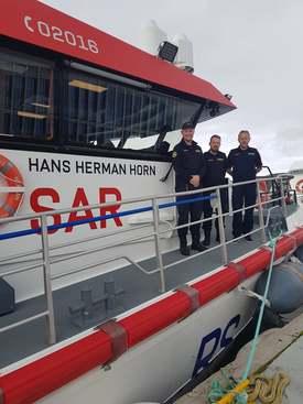 Mannskapet på «Hans Herman Horn». Foto: Bjørnar Blaalid