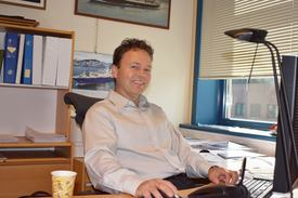 Torbjørn Bringedal har jobbet i LMG Marin siden 1994. Sivilingeniør fra NTH med konstruksjon og hydrodynamikk som spesialområder. Foto: Gustav Erik Blaalid