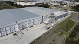 Ampliación de instalación en San Pedro de Friopacífico alcanzó una superficie superior a 11 mil metros cuadrados adicionales. Foto: Friopacífico.