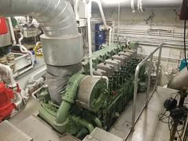 Maskinrommet på MS «Veidnes». Foto: Bjørnar Blaalid