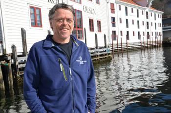 Olav Breck, er Marine Harvest sin konserndirektør for rensefisk, og sier de har ambisjoner om å øke produksjonen i 2019 og levere rundt en million berggylte. Klikk for større bilde. Foto Marine Harvest.