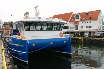 """Røkterbåten """"Egil"""" ble overlevert ved bryggen i Bergen rett før påske.  Foto: Andrea Bærland"""