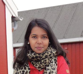 Deepti Manjari Patel (30) disputerer om immune- og stressrelaterte proteiner og gener i skinnet til rognkjeksen. Foto: Privat.